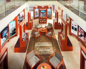Atrium v budově nové Ideální Scientologické organizace Mexico city, ve kterém je Scientologické informační centrum. Veřejnost má možnost seznámit se s tím co je scientologie prostřednictvím více než 500 filmů. které poskytují celkový přehled o všech aspektech Dianetice a scientologie.