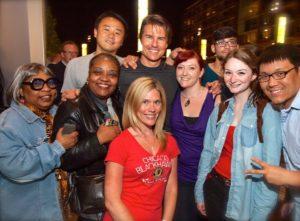 Tom Cruise s fanoušky - Scientologie herci a herečky