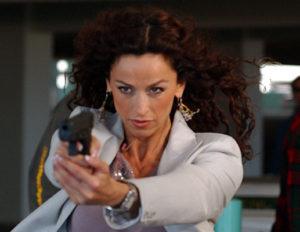 americká herečka Sofia Milos v televizním seriálu 'CSI: Miami' - scientologie herečky
